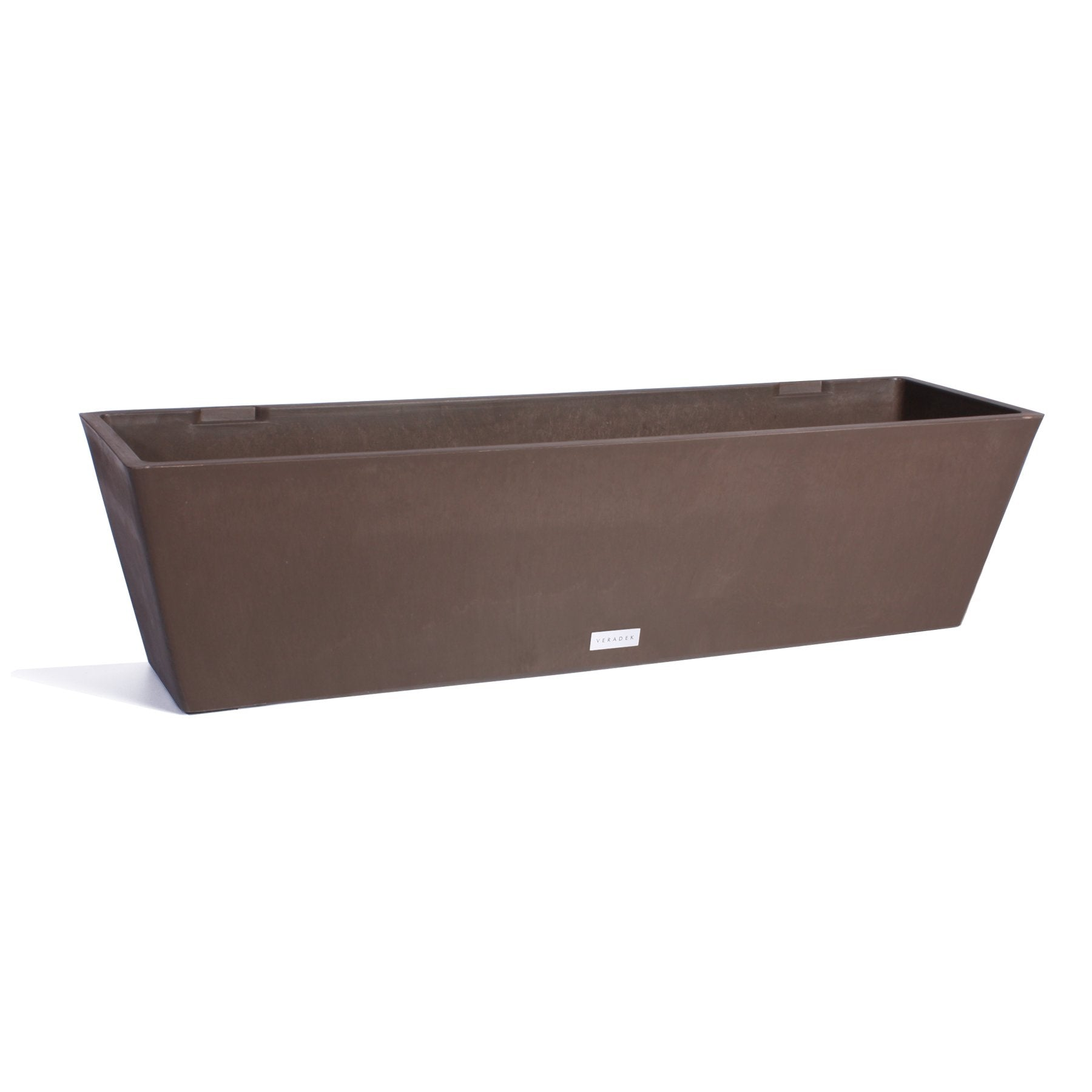 Veradek Window Box Plastic Planter, Modern Planter, Light weight planter, weather-resistant, rectangle planter, outdoor and indoor