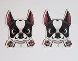 Boston terrier clear vinyl sticker