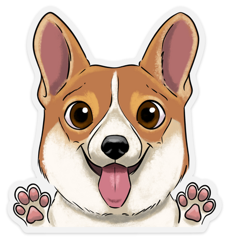 Corgi clear vinyl sticker