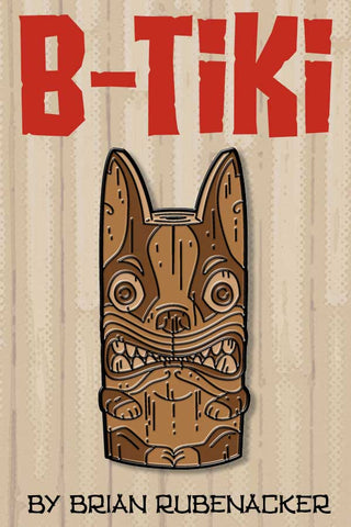 Boston terrier B-Tiki pin