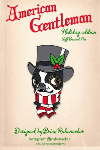American Gentleman Christmas pin