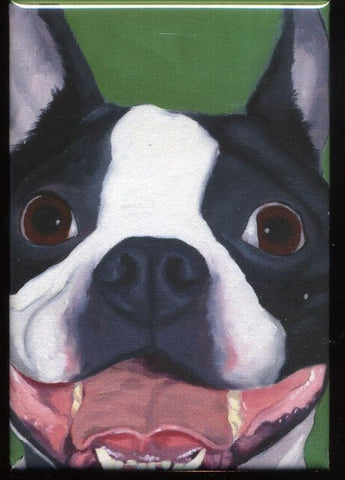 Boston terrier gift, Boston Terrier Cute Dog Art Magnet, boston terrier art, kitchen decor, boston terrier lover