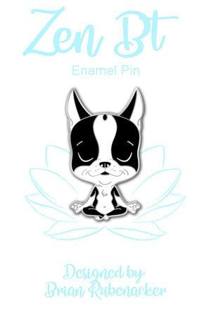 Boston terrier gift yoga pin