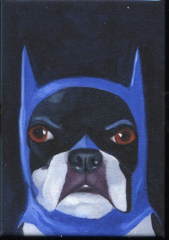 Boston terrier gift, Boston Terrier Batman Cute Dog Art Magnet, Batman dog magnet