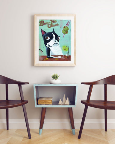 Boston terrier brand olives print