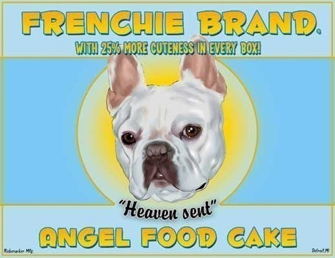 Angel Food Cake - French Bulldog art print, French bulldog gift, French bulldog dog art wall print