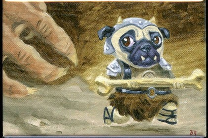 Gamorrean Pug dog art magnet