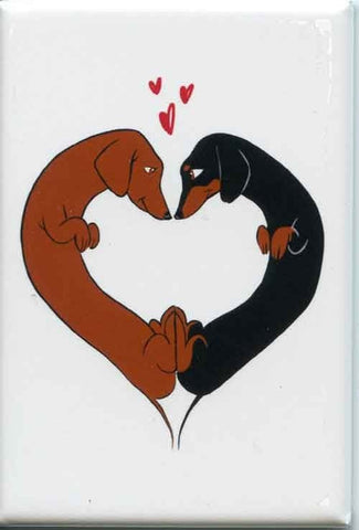 Dachshund gift, Love Heart - Dachshund Cute dog art magnet, Dachshund art, love Dachshunds