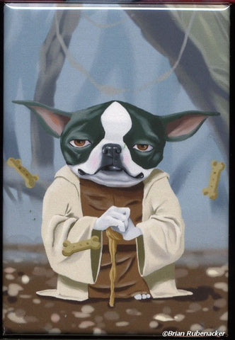 Yoda Terrier - Boston Terrier magnet, boston terrier gift, star wars gift, boston terrier lover