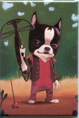 Walking Dead Daryl Dixon Boston Terrier magnet
