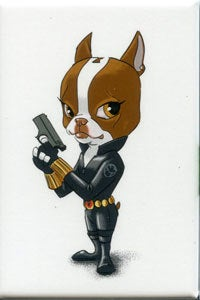 The Black Widow avengers - Boston Terrier magnet