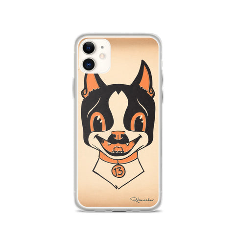 Halloween boston terrier iPhone Case