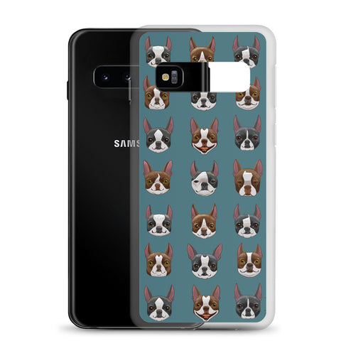 Black and red boston terrier blazes Samsung Case