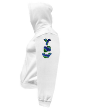 Load image into Gallery viewer, CLHOODIE-WHITE-LEFTSLEEVE-1821