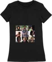 Load image into Gallery viewer, WOMTEE-BLACK-FRONT-1419