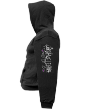 Load image into Gallery viewer, CLHOODIE-BLACK-LEFTSLEEVE-2570