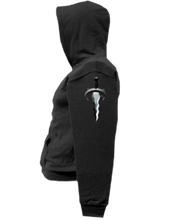 Load image into Gallery viewer, CLHOODIE-BLACK-LEFTSLEEVE-2277