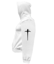 Load image into Gallery viewer, CLHOODIE-WHITE-LEFTSLEEVE-2656
