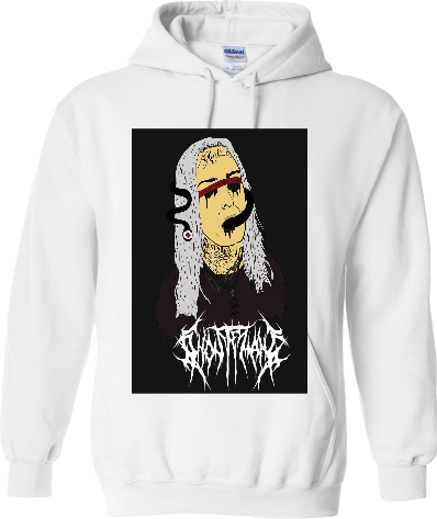Melt Face (white hoodie)