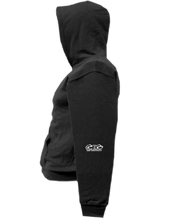 Load image into Gallery viewer, CLHOODIE-BLACK-LEFTSLEEVE-2289