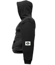 Load image into Gallery viewer, CLHOODIE-BLACK-LEFTSLEEVE-1400