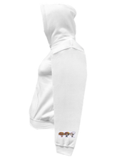 Load image into Gallery viewer, CLHOODIE-WHITE-LEFTSLEEVE-1861