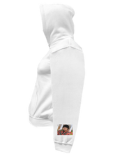 Load image into Gallery viewer, CLHOODIE-WHITE-LEFTSLEEVE-849