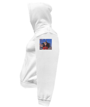 Load image into Gallery viewer, CLHOODIE-WHITE-LEFTSLEEVE-1537
