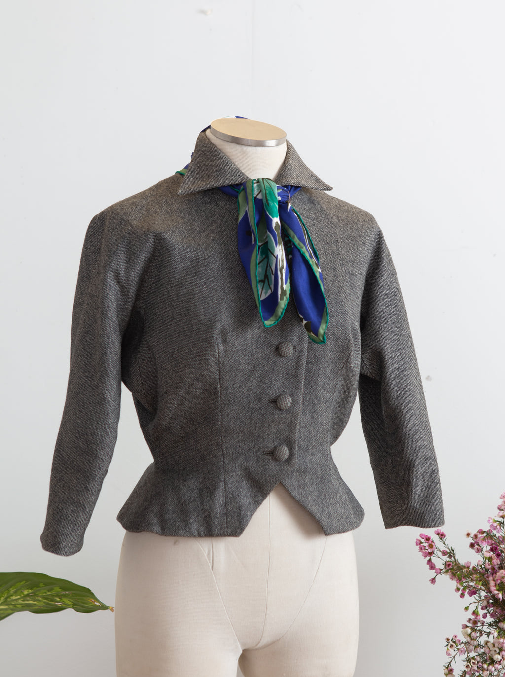 1950s Grey Tweed Jacket by Hansi