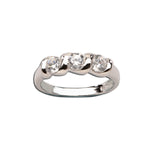 Sterling Silver Baby Ring with Twisted Band and Triple CZ Stones (BR-03-Clear)