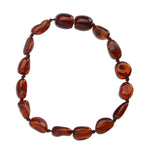 Amber Teething Bracelet - Dark Cherry Polished (ATBP- Dark Cherry)