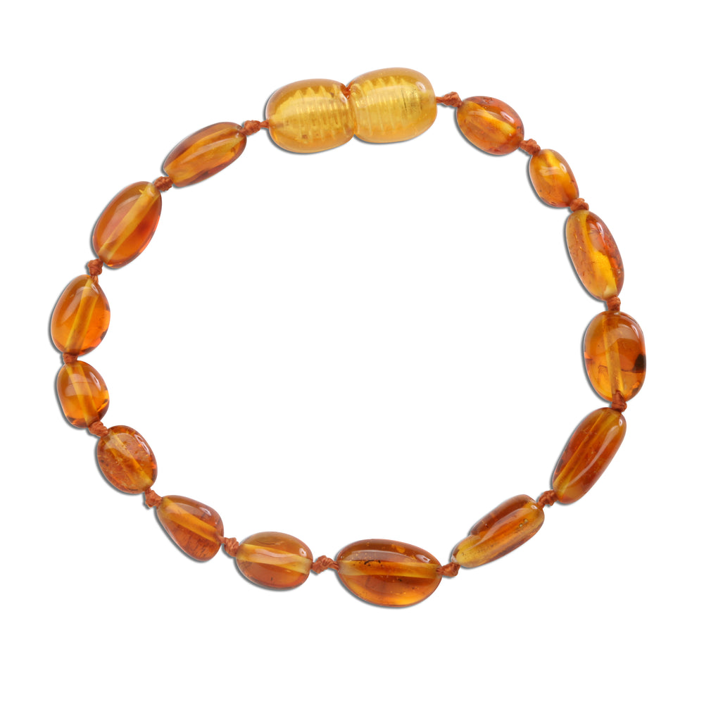 Amber Teething Bracelet - Honey Polished (ATBP- Honey)