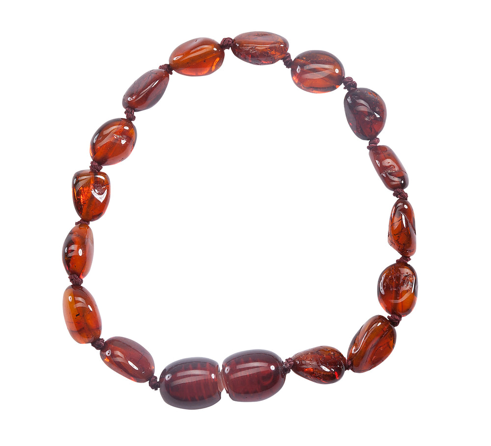 Amber Teething Bracelet - Light Cherry Polished (ATBP- Light Cherry)