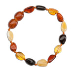 Amber Teething Bracelet - Multi Polished (ATBP-Multi)