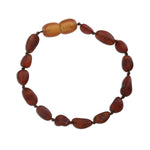 Amber Teething Bracelet - Dark Cognac Unpolished Raw (ATBU-Dark Cognac)