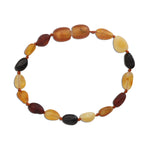 Amber Teething Bracelet - Multi Unpolished Raw (ATBU-Multi)