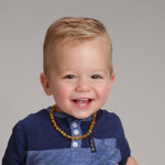 Amber Teething Necklace - Honey Polished Baroque (ATNP-BQ-Honey)