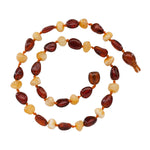 Amber Teething Necklace - Lt. Cherry/Milk Polished (ATNP-Lt. Cherry/Milk)