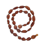 Amber Teething Necklace - Dark Cognac Unpolished Raw (ATNU-Dark Cognac)