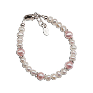 Load image into Gallery viewer, sterling silver pearl baby bracelet