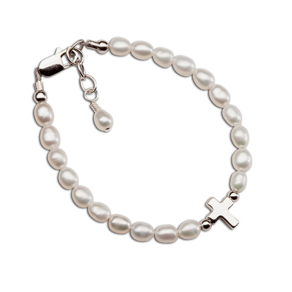 Load image into Gallery viewer, Sterling Silver Cross Bracelet (TC-Amelia)