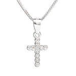 Sterling Silver Children's Cross Necklace (BCN-Cross CZ)