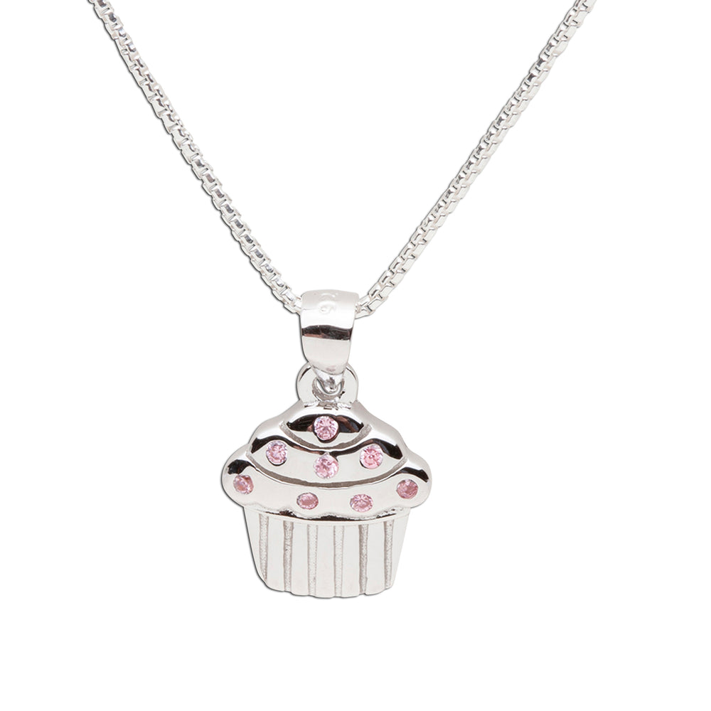 Sterling Silver Cupcake Necklace (BCN-Cupcake Swirl)