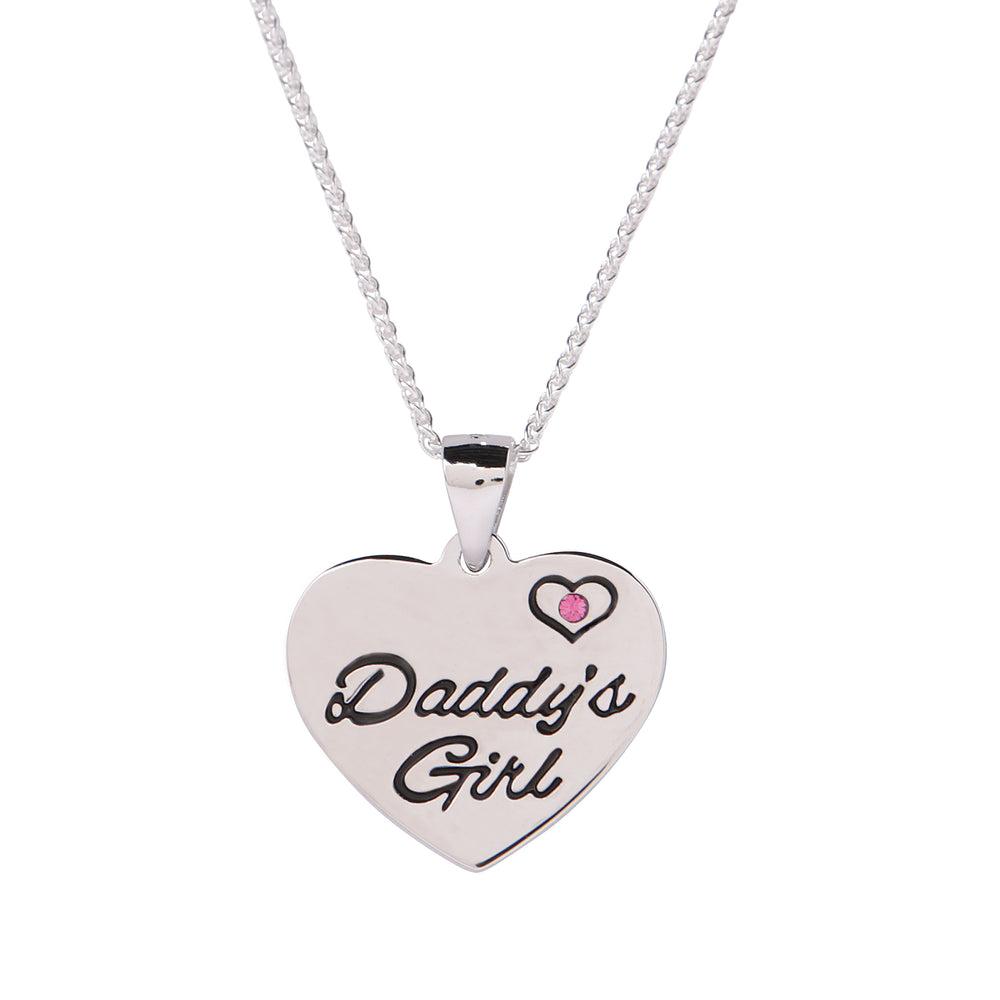 Sterling Silver Daddy's Girl Necklace (BCN-Daddy's Girl)