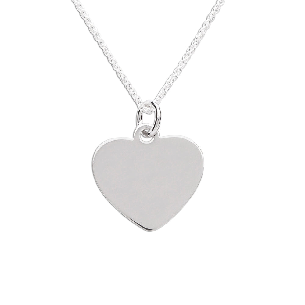 Sterling Silver Children's Engraveable Heart Necklace (TCN-Engrave Heart)