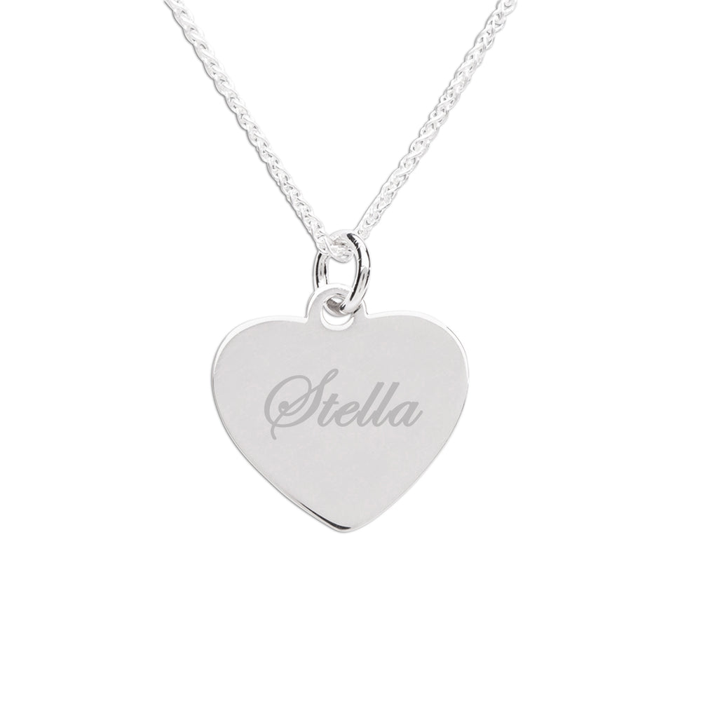 Load image into Gallery viewer, Sterling Silver Children's Engraveable Heart Necklace (TCN-Engrave Heart)