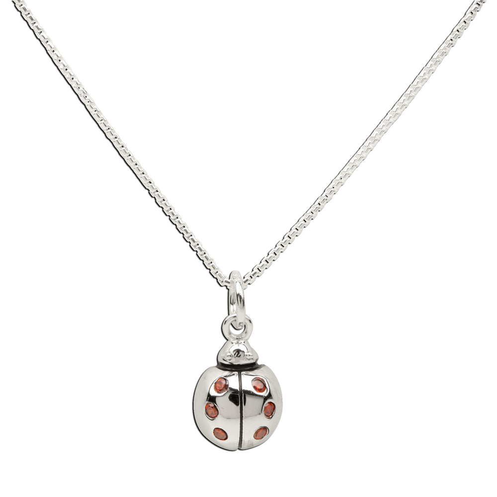 Load image into Gallery viewer, Sterling Silver Ladybug Necklace (BCN-Ladybug-Red)