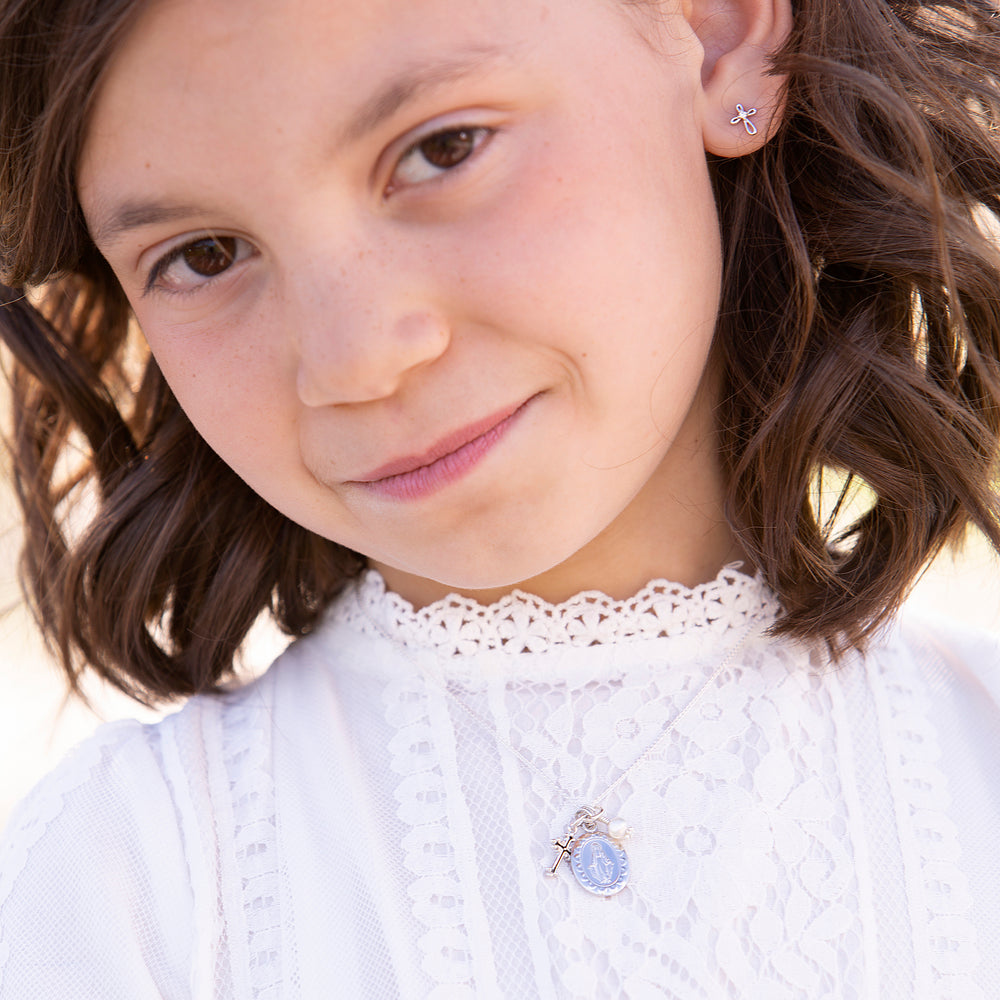 First Communion Miraculous Medal Necklace (FCN-Miraculous)