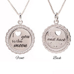 I Love You to the Moon and Back Necklace for Little Girls