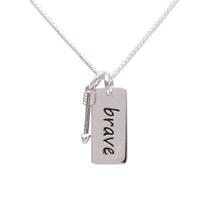 Sterling Silver Brave Necklace (BCN-SS-Brave)